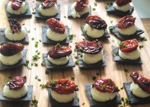charcoal crackers with whipped feta