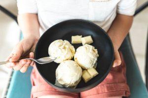 white chocolate ice cream
